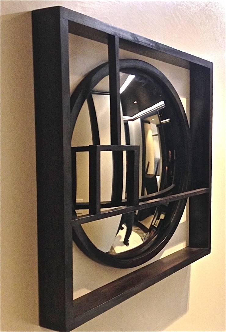 Bespoke Wooden Frame - Convex Mirror:  Dressing room by Alguacil & Perkoff Ltd.