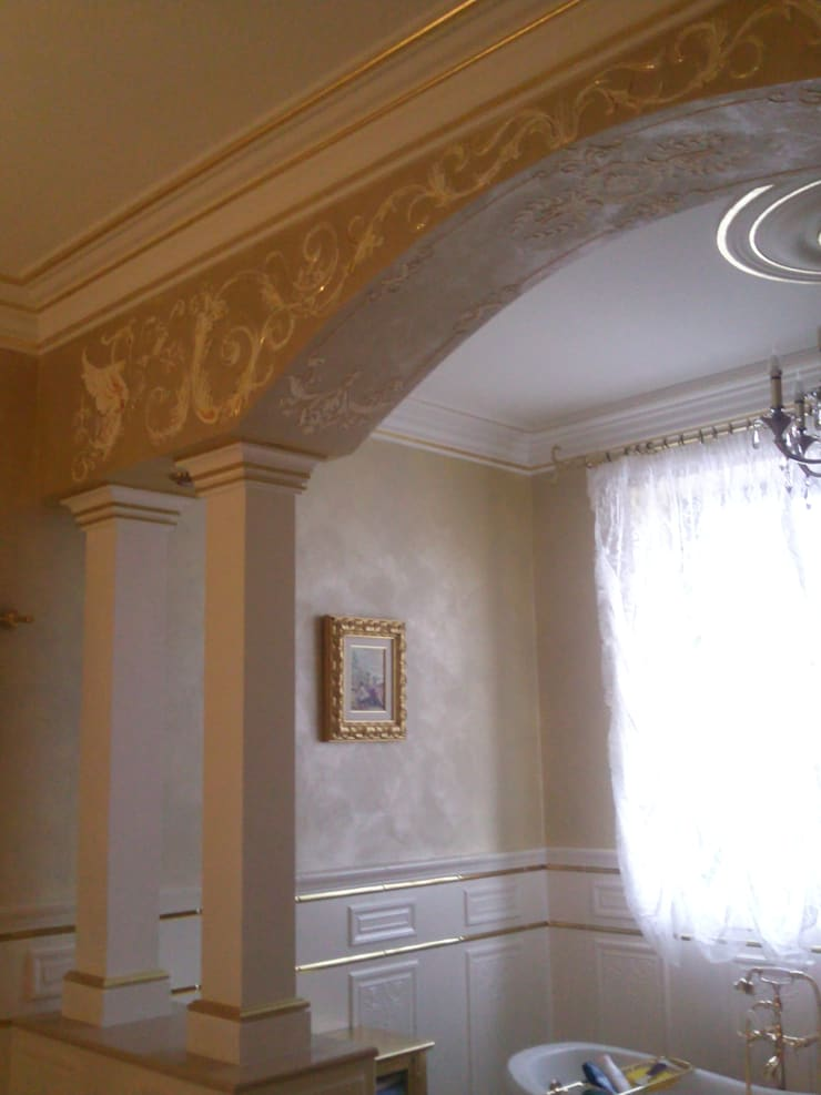 орнамент и золочение: Ванные комнаты в . Автор – Абрикос ,