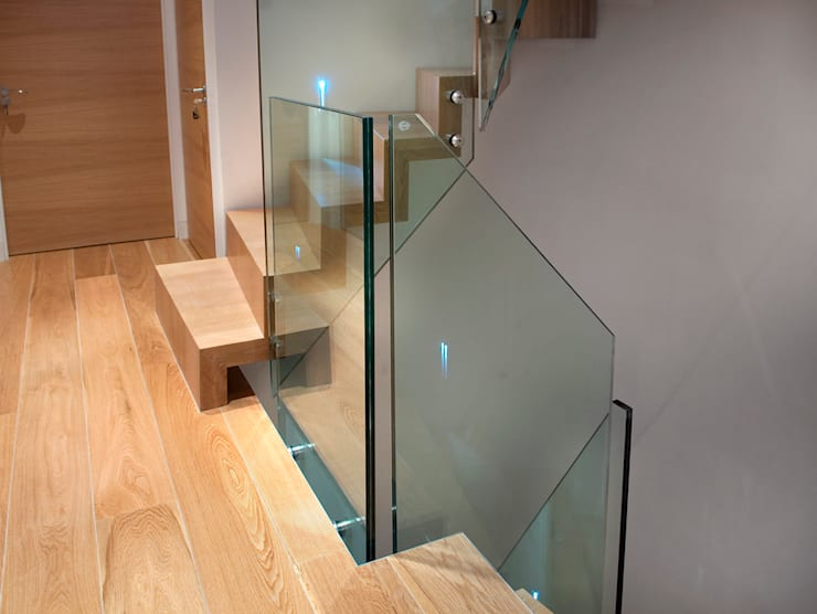 Block staircase - Solid French Oak :  Corridor, hallway & stairs by Smet UK - Staircases