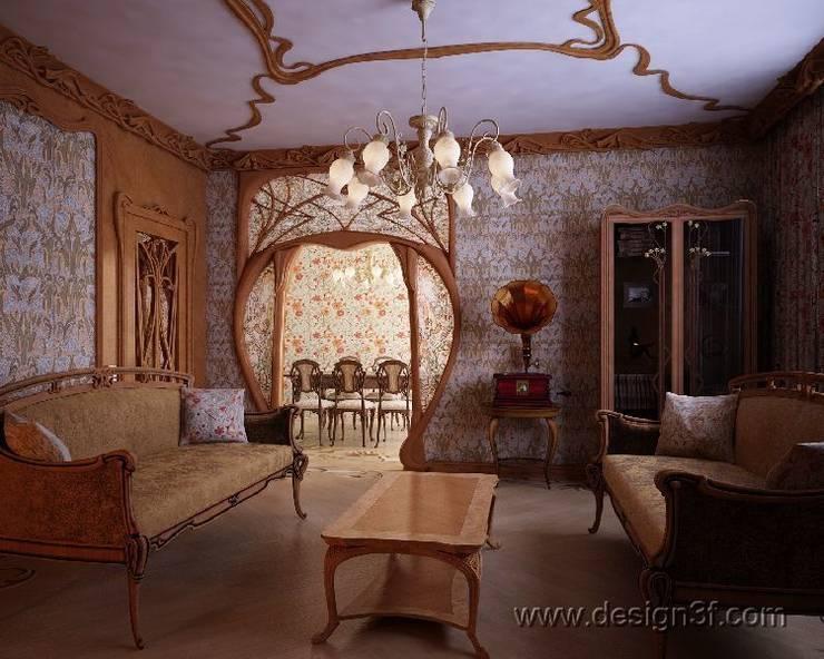 Wohnzimmer von студия Design3F