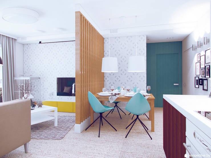 Трехкомнатная квартира в ЖК <q>Акварели</q>, г. Балашиха:  в . Автор – Студия 'perspective',