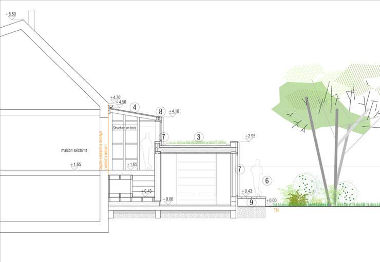 Maison C: Maisons de style  par atelier eem