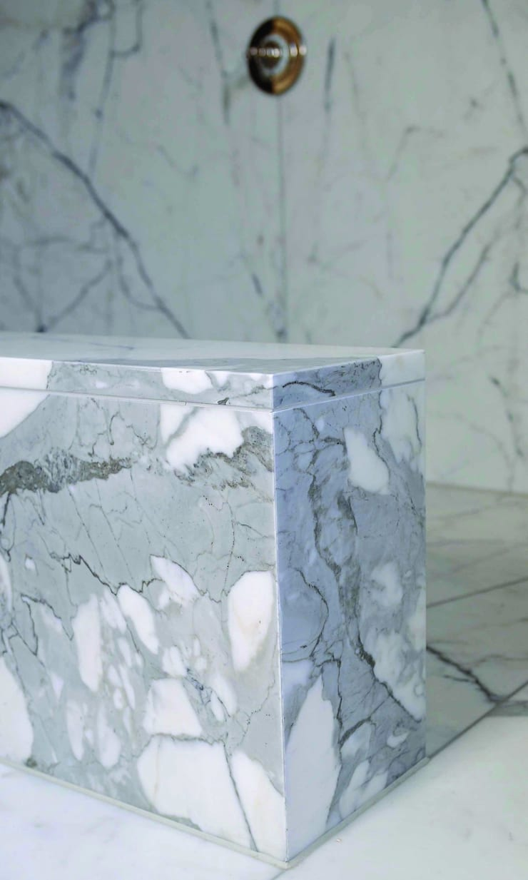 Statuary Marble Wetroom :  Bathroom by Stone Age