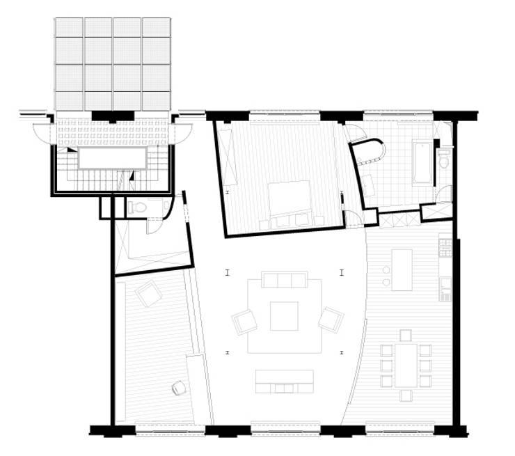 Plan de la situation projetée:  de style  par Olivier Dubucq