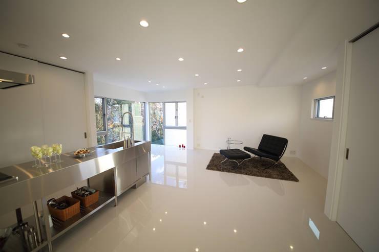 Living room by 一級建築士事務所・スタジオインデックス