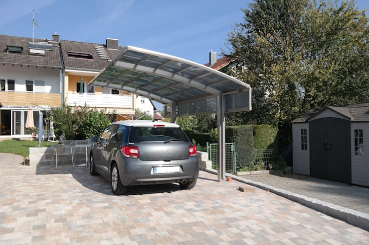 Garages & sheds by Deutsche Carportfabrik GmbH & Co. KG