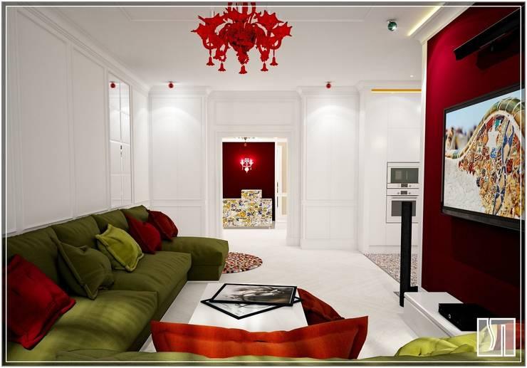 Вид из гостиной на коридор: Гостиная в . Автор – Студия дизайна Светланы Исаевой