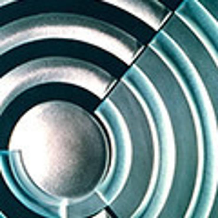 Dalle gravée d'un motif de Sonia Delaunay : Art de style  par le verre appliqué à la décoration et à l'architecture
