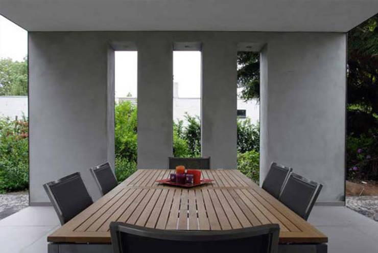 overdekt terras:   door 3d Visie architecten