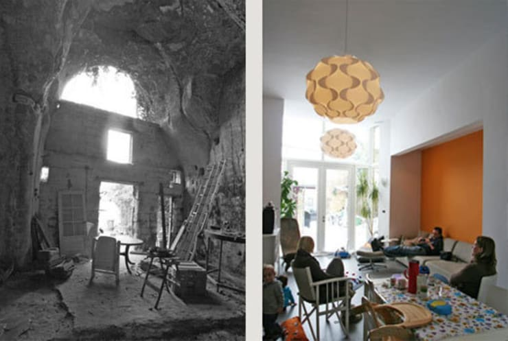 Grotwoning H Kanne:  Woonkamer door 3d Visie architecten