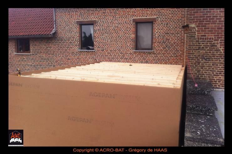 Construction ossature bois / Annexe , bardage etercolor et moellons:  de style  par ACRO-BAT / Grégory de HAAS