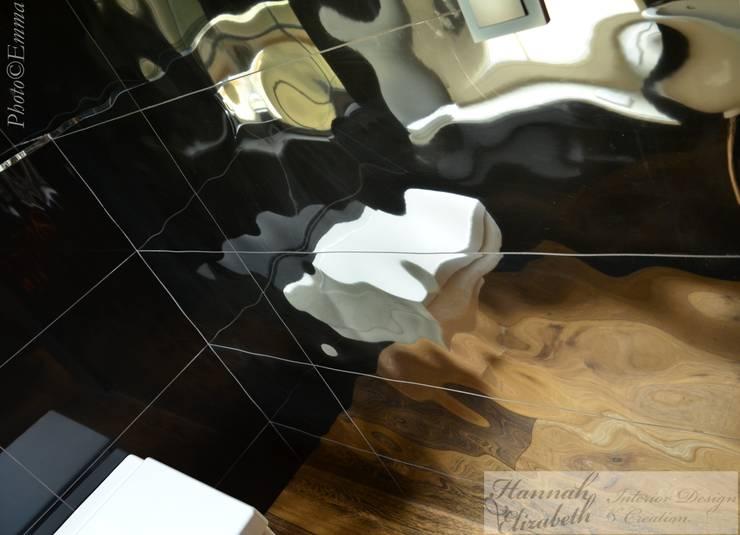 WC:  de style  par HANNAH ELIZABETH INTERIOR DESIGN & CREATION