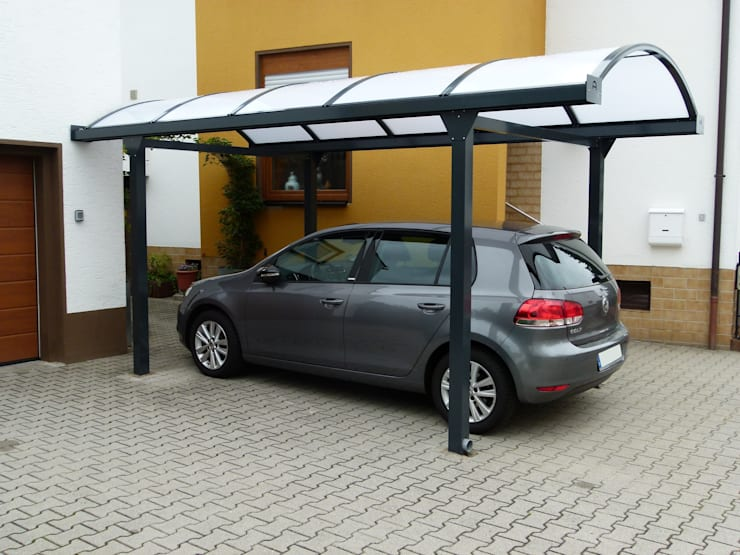 Garage/Rimessa in stile  di Deutsche Carportfabrik GmbH & Co. KG