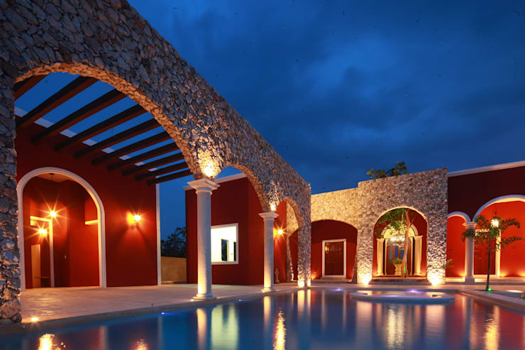 Piscina: Albercas de estilo  por Arturo Campos Arquitectos