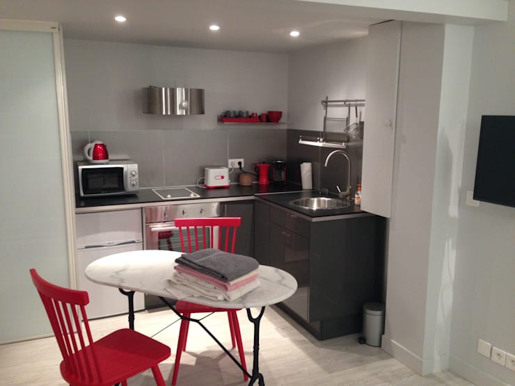 Projekty,  Kuchnia zaprojektowane przez Marine Cornut