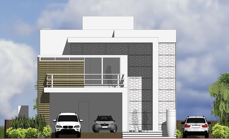 Fachada Frontal: Casa  por Canisio Beeck Arquiteto