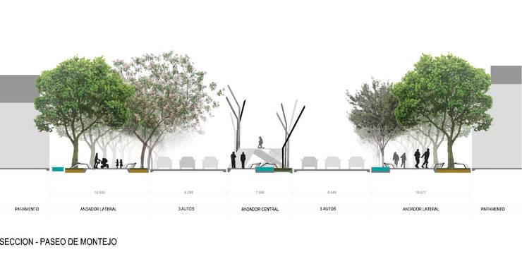 Sección Paseo Montejo:  de estilo  por Arturo Campos Arquitectos