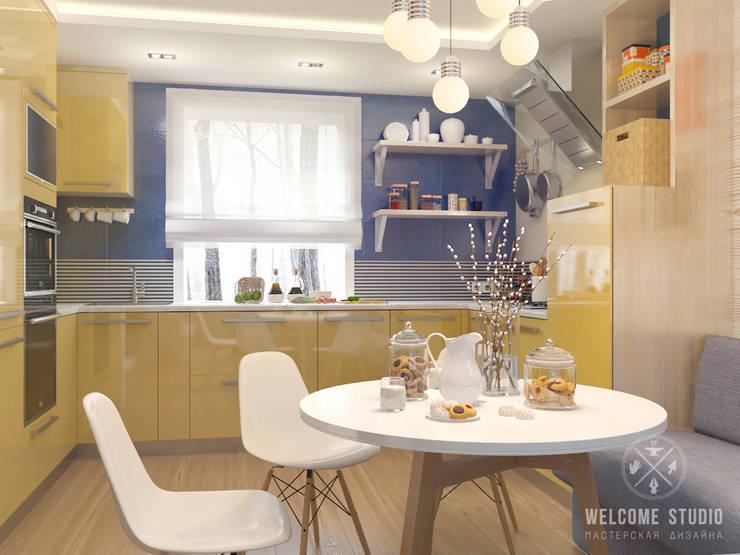 Проект HOME I Гостиная в частном доме: Кухни в . Автор – Мастерская дизайна Welcome Studio