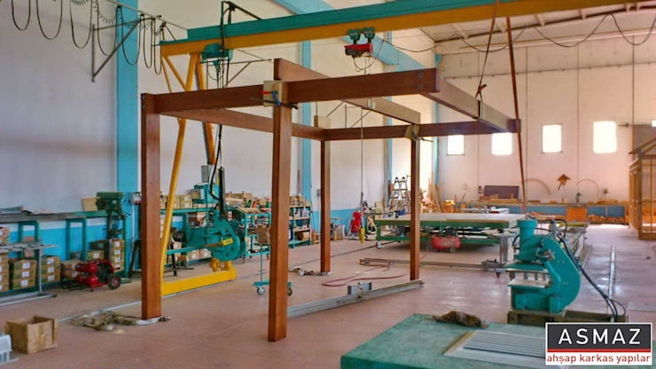 ASMAZ Timber Structures – Pergolata İmalat:  tarz Balkon, Veranda & Teras