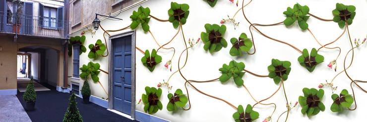 Muurbloem Design Studio_Collection Flowers + Leaves_Clover:  Muren & vloeren door Muurbloem Design Studio