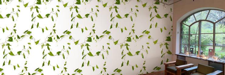 Muurbloem Design Studio_Collection Flowers + Leaves_Bindweed:  Muren & vloeren door Muurbloem Design Studio