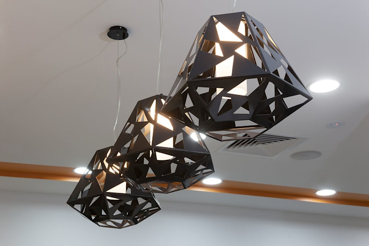 Salon Express 7 Feature Lighting:  Shopping Centres by Natasha Fowler Design Solutions