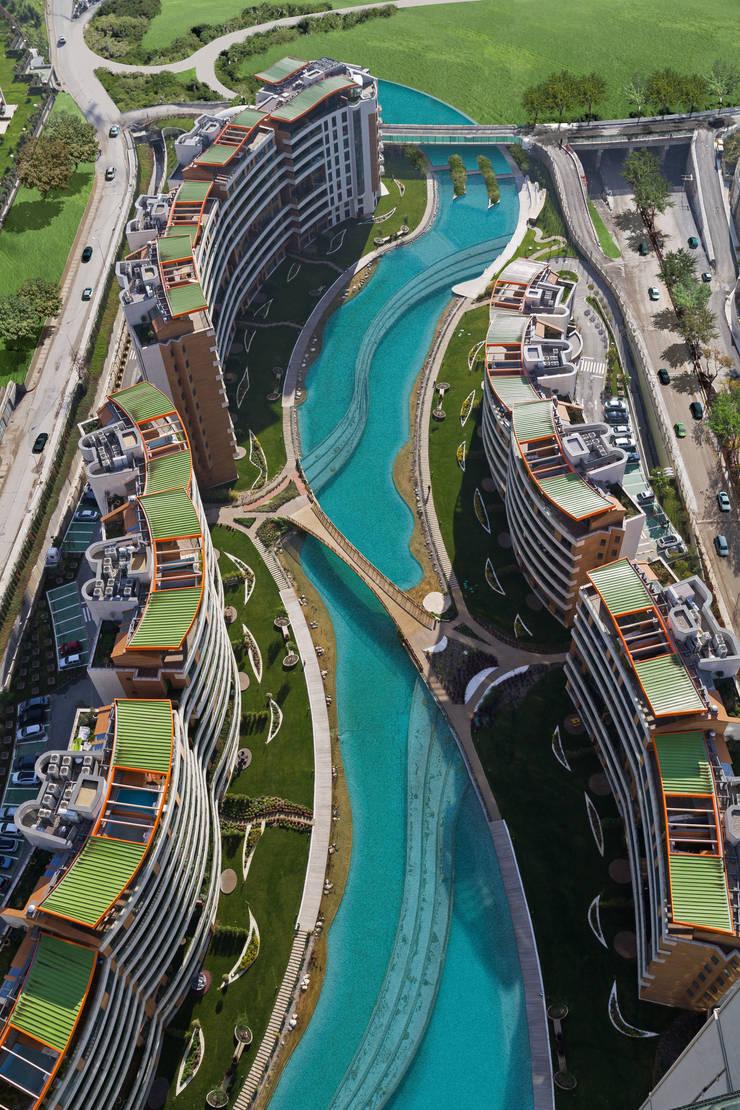 Evrenol Architects – Göl etabı - Fotoğraf UĞUR EREN:  tarz