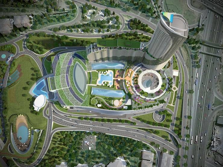Evrenol Architects – Kent etabı yerleşim planı:  tarz