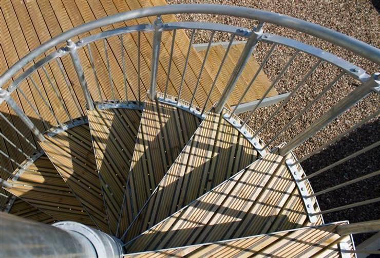 Rear External Stair:  Corridor & hallway by Architects Scotland Ltd