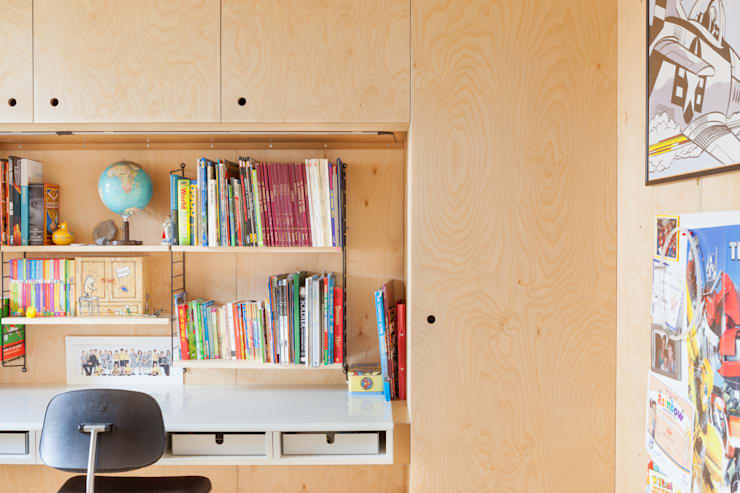 West London Home by Sybarite Architects:  Nursery/kid's room by Whitaker Studio