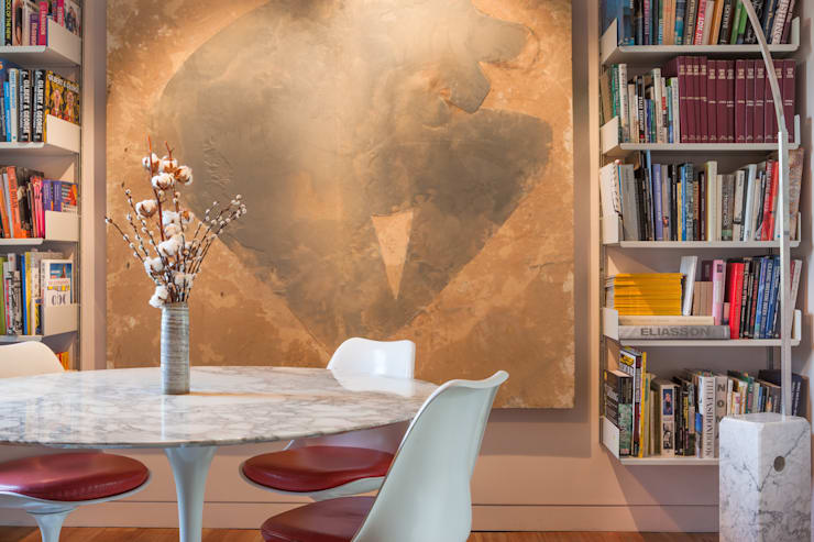 West London Home by Sybarite Architects:  Dining room by Whitaker Studio