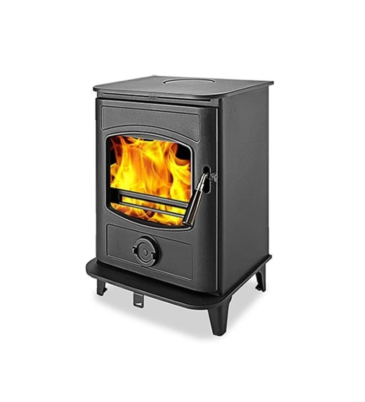 Graphite 8 DEFRA Approved Wood Burning Multifuel Stove:  Living room by Direct Stoves