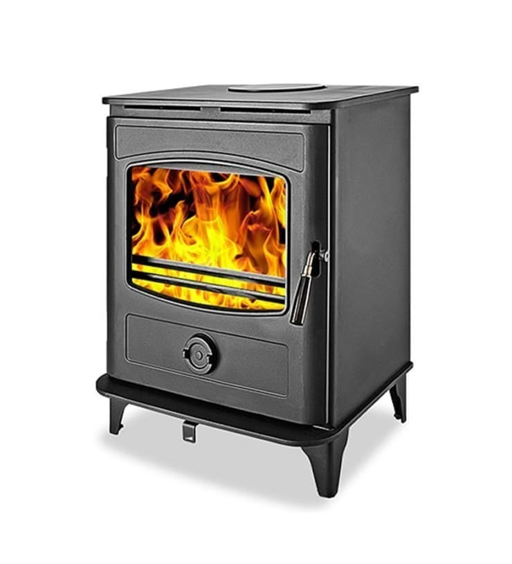 Graphite 10 Wood Burning Multifuel Stove:  Living room by Direct Stoves