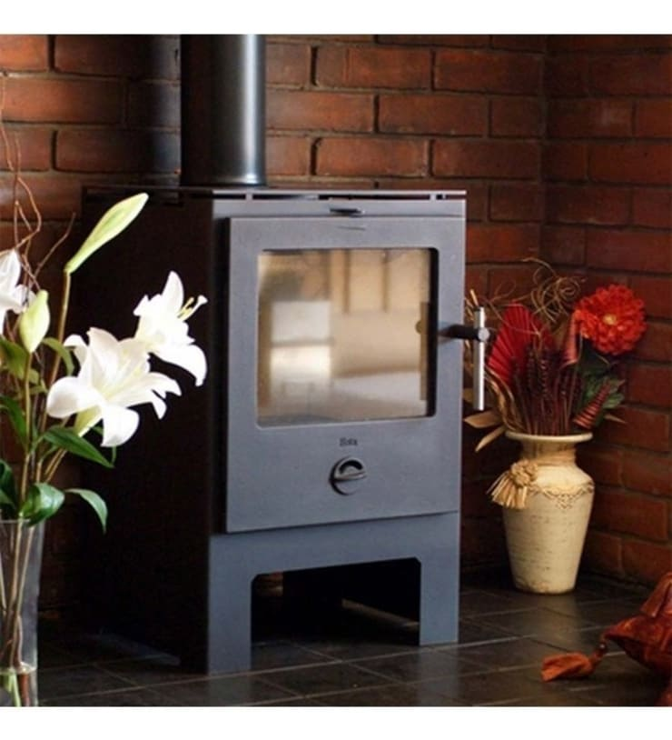Heta Scanline 6 Woodburning Stove:  Living room by Direct Stoves