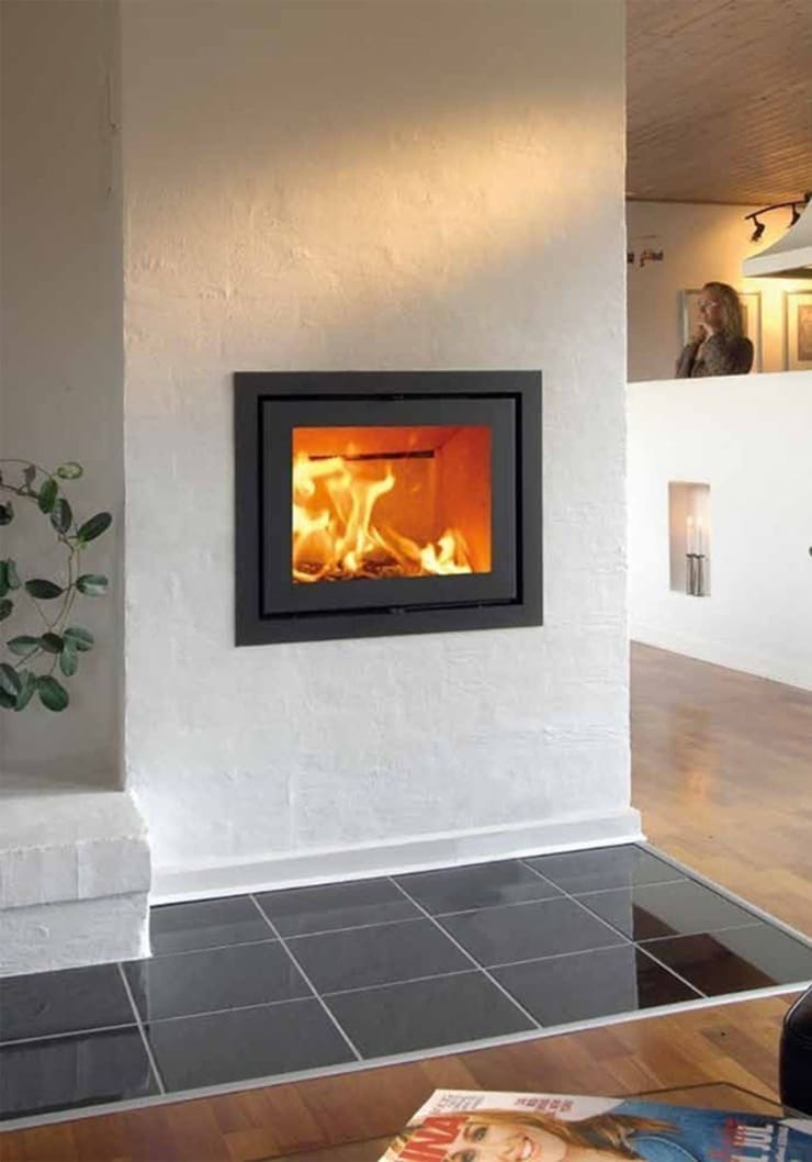 Heta Classic Inset Wood Burning Stove:  Living room by Direct Stoves
