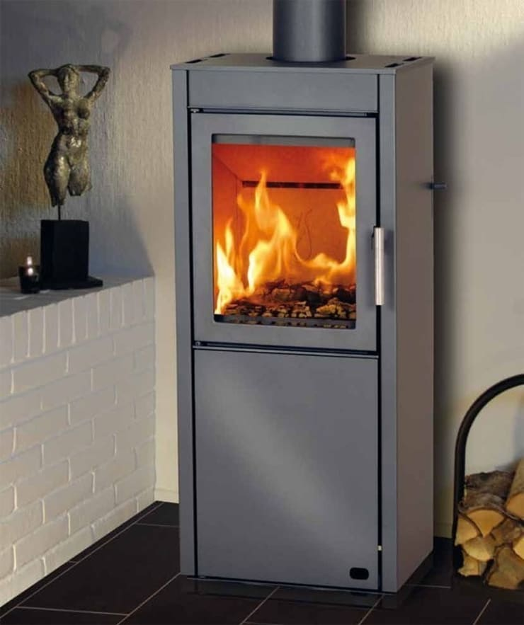 Heta Scanline 550 Woodburning Stove:  Living room by Direct Stoves