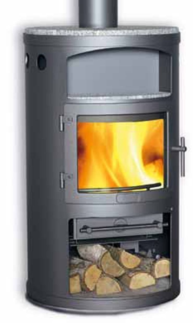 Heta Scanline 15 Woodburning Stove:  Living room by Direct Stoves
