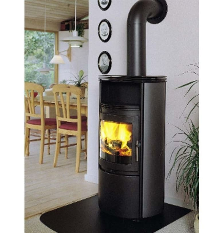 Heta Scanline 25 Woodburning Stove:  Living room by Direct Stoves