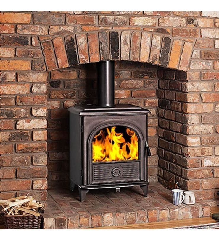 Hi-Flame Alpha III Wood Burning and Multifuel Stove:  Living room by Direct Stoves