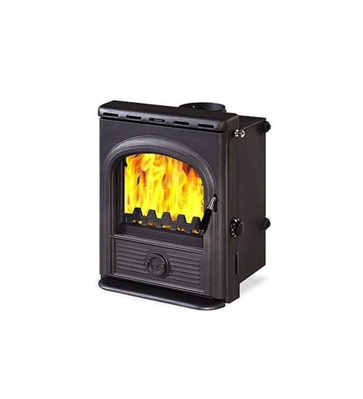 Hi Flame Alpha Wood Burning Multifuel Inset Boiler Stove:  Living room by Direct Stoves