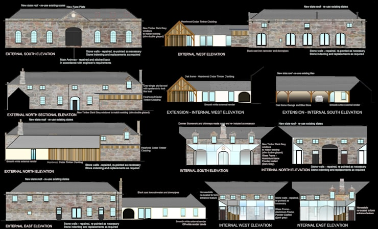 Conversion and Refurbishment of Steading Building:   by Architects Scotland Ltd