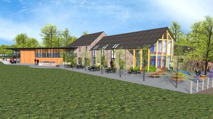 Visitors Centre / Farmshop / Restaurant :  Commercial Spaces by Architects Scotland Ltd