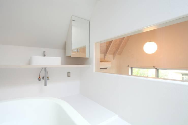 マルコビッチな家: SASAKI YOSHIKI ARCHITECTS STUDIOが手掛けた浴室です。