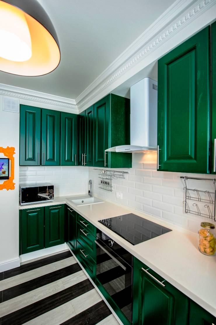 До и после ремонта: 12-метровая кухня в эпатажном стиле: Кухни в . Автор – Сделано со вкусом на ТНТ