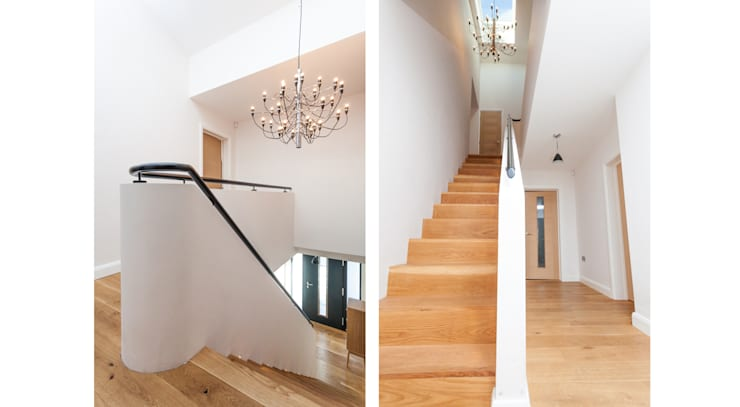 4 Farrar Lane:  Corridor & hallway by Studio J Architects Ltd