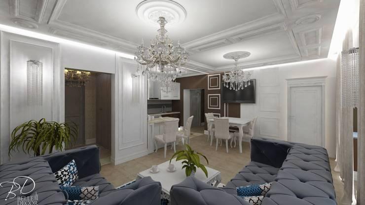Гостиная-кухня:  в . Автор – Студия креативного дизайна