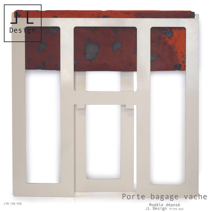 PORTE BAGAGES PLIE: Chambre de style  par Print-out / james lenglin design