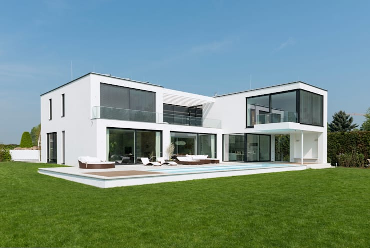 Ansicht Gartenseite:  Häuser von SOHOarchitekten