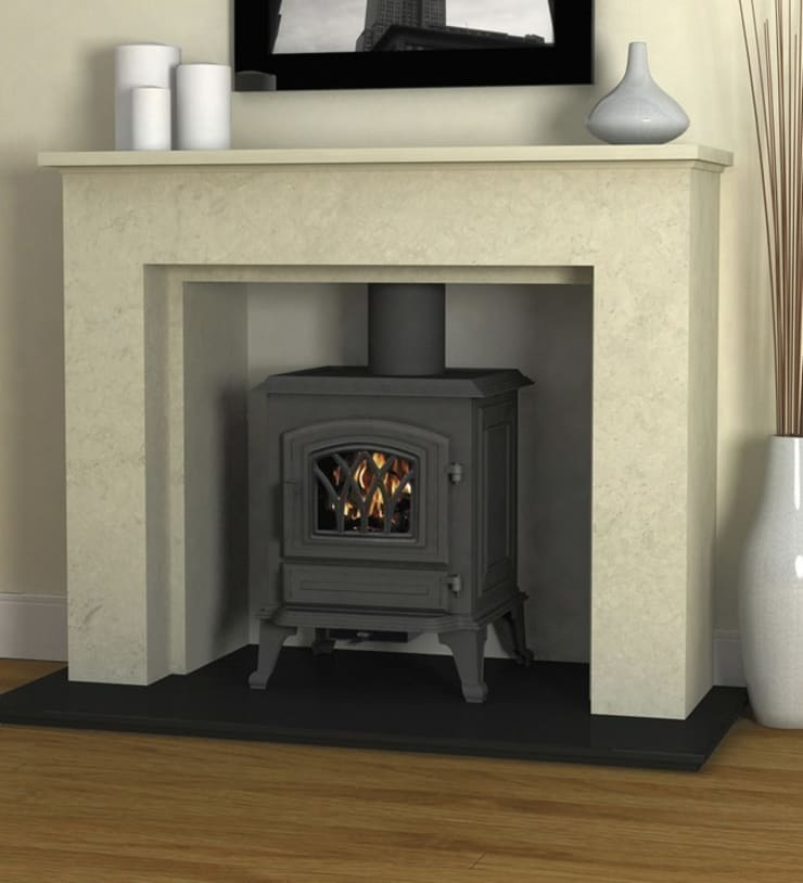 Hillandale Monroe 5 Multi Fuel / Wood Burning DEFRA Approved Stove:  Living room by Direct Stoves