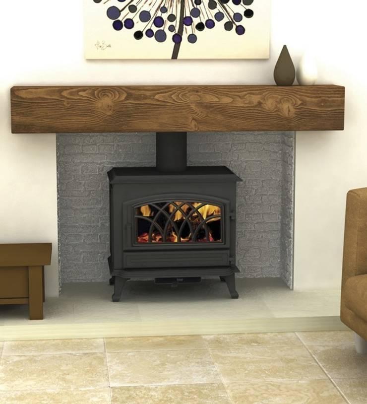 Hillandale Monroe 7 Multi Fuel / Wood Burning DEFRA Approved Stove:  Living room by Direct Stoves